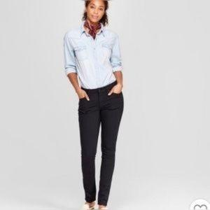 Old Navy Super Skinny Black Jeans Mid Rise 10 Reg